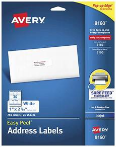 avery easy peel permanent adhesive address labels white school specialty marketplace