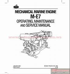 Mack Leu Wiring Diagram by Mack Marin Engine M E7 Operating Maintenance Service