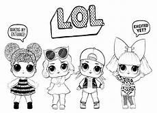 Gambar Mewarnai Lol Printable Lol Coloring