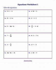 free worksheets for linear equations pre algebra algebra 1
