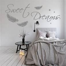 schlafzimmer wandtattoo wandtattoo aa092 sweet dreams federn schlafzimmer
