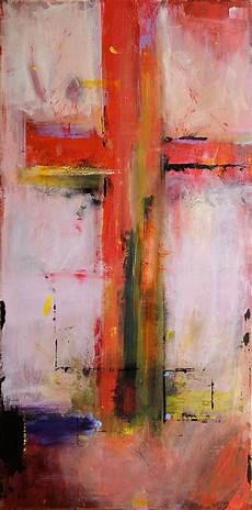 cross pink original abstract acryllic painting
