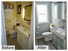 Bathroom Pictures Before And After by Remodelaholic Modern Bathroom Update
