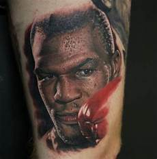 realism style very detailed and colored mike tyson