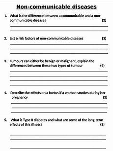 new aqa gcse trilogy 2016 biology non communicable diseases homework by swiftscience
