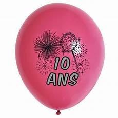 10 Ballons De Baudruche Anniversaire 10 Ans