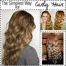 No Heat Hairstyles For Curly Hair quot the simplest way for no heat curly hair quot