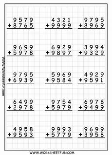 worksheets on 4 digit addition 9173 4 digit addition with regrouping carrying 9 worksheets free printable worksheets