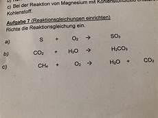 Wie Richte Ich Reaktionsgleichungen Ein Schule Chemie
