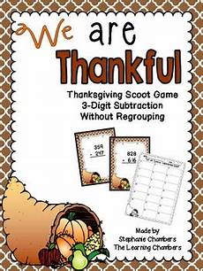 thanksgiving subtraction with regrouping worksheets 10720 thanksgiving math scoot 3 digit subtraction with and without regrouping