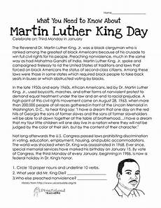 martin luther king day free worksheet squarehead teachers