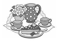 Ausmalbilder Malvorlagen Quark Kaffee Und Kuchen Bilder Zum Ausmalen