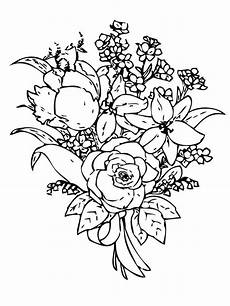 flower bouquet coloring pages and print flower