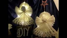 diy gro 223 er stehender led engel aus butterbrotpapier