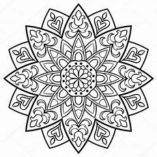 Mandala Malvorlagen Quotes Mandala Simples Vector Vetor De Stock 169 Matorinni 125482536