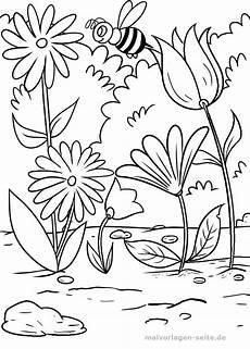 Blumen Malvorlage Kostenlos Malvorlage Blumen Und Biene Kostenlose Ausmalbilder