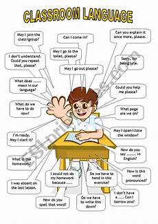 classroom language student esl worksheet by htunde