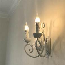 pastoral rustic crystal lights lighting bedroom led wall light bedside l warm simple white