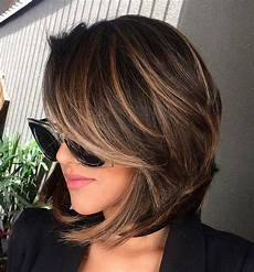 70 best a line bob hairstyles screaming with class and style brown hair with highlights brown