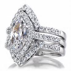 padgett s marquise cut cz wedding ring double ring