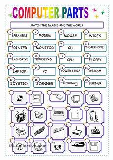 match the computer parts worksheet free esl printable worksheets made by teachers useful
