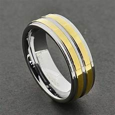 8mm dome 18k gold mens tungsten ring wedding band bridal jewelry size 9 13 ebay