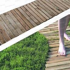 chemin bois jardin chemin potager 2 0m en pin fsc all 233 e chemin gravier