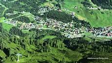 picturesque st anton am arlberg aerial view