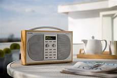 evoke 2s luxury portable stereo dab fm radio maple