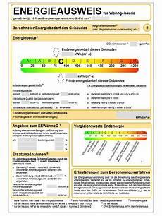 Bmwi Neuer Energieausweis F 252 R Wohngeb 228 Ude