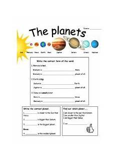 comparative and superlative basics with planets esl worksheet by mariong