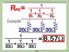 how to calculate series and parallel resistance with