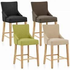 chaise de bar haute chaise de bar bois tissu magna monde du tabouret