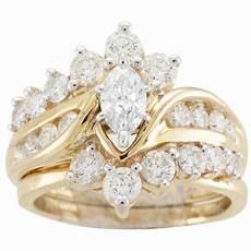 14k yellow gold 2ct tdw diamond bridal ring h i i1 i2 overstock shopping top