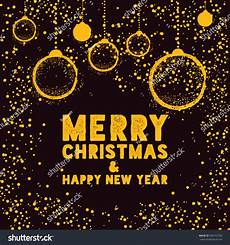 christmas greeting card bauble black yellow stock vector 504312793
