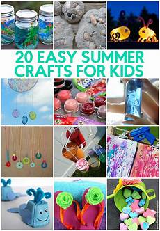 basteln sommer kinder 20 easy summer crafts for a craft in your day