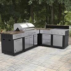 lowes outdoor kitchen designs shop master forge corner modular outdoor kitchen set at