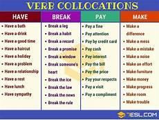 verb noun verb collocations exles in english 7 e s l