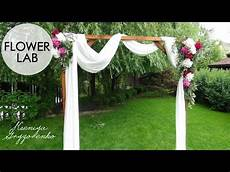 how to decorate wedding arch diy wedding decor youtube