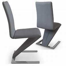 chaise de salle a manger design grise