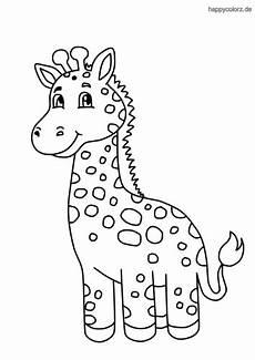 Malvorlagen Kostenlos Giraffe Baby Giraffe Zum Ausmalen