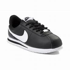 tween nike cortez athletic shoe black 1388207