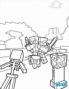 minecraft ausmalbilder drucken malvor