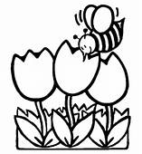 Spring  Chicks Coloring Page