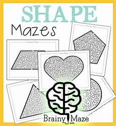 shape maze worksheet 1194 a set of free printable shape mazes for children featuring a circle square triangle