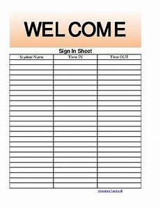 the teacher s ultimate sign in sheet free by innovative teacher