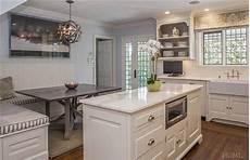 Beadboard Kitchen Banquette by Built In Banquette With Beadboard Backsplash Transitional