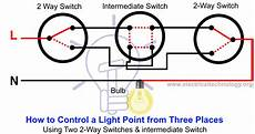 2 way switch how to control one l from two or three places