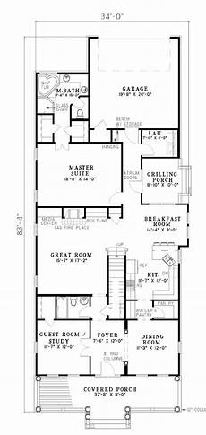 narrow lot house plans with rear garage 10 best narrow plans images on pinterest floor plans
