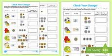 money worksheets ks2 giving change 2208 money ks2 resources